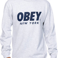 Obey New York Capsule Crew Neck Sweatshirt