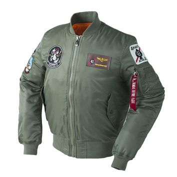 Trendy Winter Thick Top Gun US Air force Plus Size Army Military Puffer New view Bomber Flight Padding Pilot Tactical Jacket For Men AT_94_13