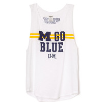 University of Michigan Boyfriend Tank - PINK - Victoria's Secret