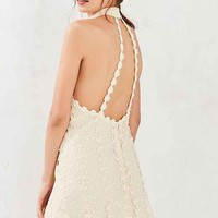 Ecote Daisy Lace Mock-Neck Mini Dress