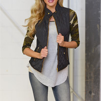 More To Explore Quilted Puffer Vest - Black