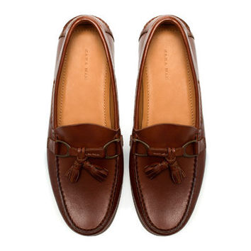 MOCCASIN WITH APPLIQUÉ - Moccasins - Shoes - Man - ZARA United States