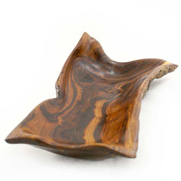 Hand-Carved African Sandalwood Tray