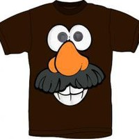 ROCKWORLDEAST - Mr Potato Head, T-Shirt, Chocolate Potato Head