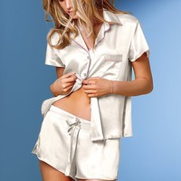 Satin Boxer Pajama Set