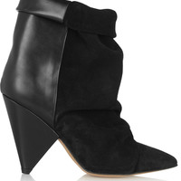 Isabel Marant - Andrew suede and leather ankle boots