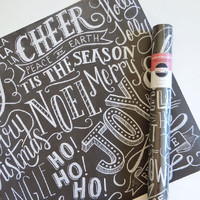Specialty Wrapping Sheets - Holiday Typography