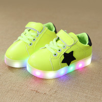 Children Shoes With Light Baby Boys Girls LED Light Up Shoes Kids Luminous Sport Shoes Glowing Sneakers Boys Girls Ligthed Shoes