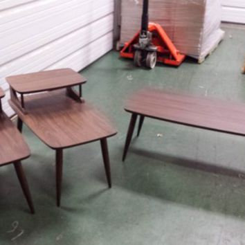 Mid Century Modern Coffee & 2 matching End Tables