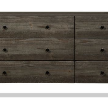 Crockett 6 Drawer Dresser DARK PINE