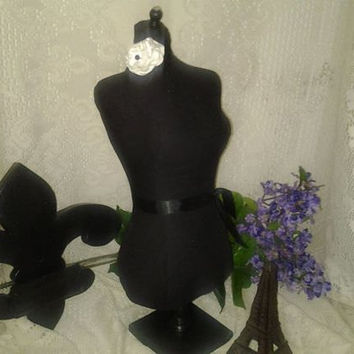"""Boutique dress form 22"""" craft decorative designs French Provincial chic jewelry holder pin cushion sewing display"""
