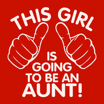 Children kids t-shirt. This girl is going to be an aunt. T-shirt for boys pregnancy announcement