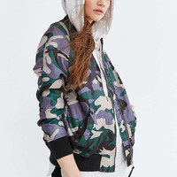Silence + Noise Rita Oversized Shell Bomber Jacket - Urban Outfitters