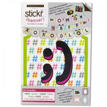 Stickr Peel & Stick Text Sayings Wall Banner Kit