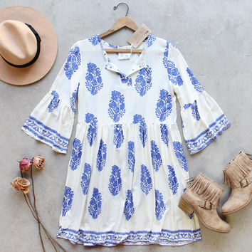 Maddy Block Print Dress