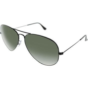 Ray-Ban Men's Aviator RB3026-L2821-62 Black Sunglasses