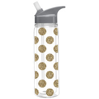 Glitter Dots Water Bottle