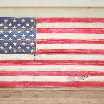 Wood flag, Wooden Flag Sign, reclaimed wood flag, distressed American Flag sign, rustic flag sign, reclaimed wood wall art, pallet sign