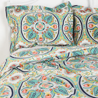 Urban Outfitters - Painted Medallion Sham - Set Of 2