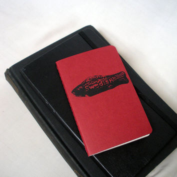 Swedish Fish Screen Printed Pocket Moleskine Notebook