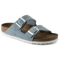 Arizona Suede Leather Light Blue | shop online at BIRKENSTOCK