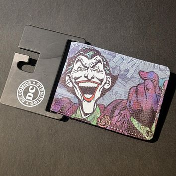 Free ShiFree Shipping Anime Wallets The Joker Batman Vampire Logo wallets Credit Card Holder Bifold Wallet Comics Marvel Purse