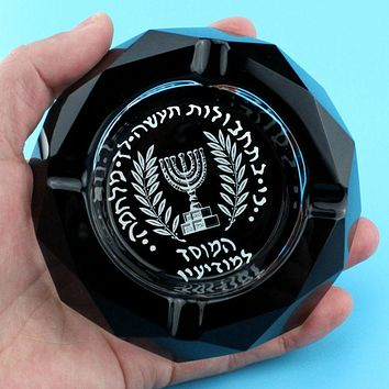 Crystal Ashtray - Special Military Intelligence Israeli Mossad Creative Smoking Gift