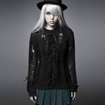 Gothic Punk Elegant Batwing Loose Casual Sweater