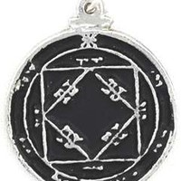 Third Pentacle of the Sun Talisman Amulet Pentacle Pentagram Necklace Pendant Charm Religious Wicca Wiccan Pagan Men's Women's Jewelry Five Pointed Star