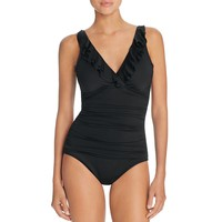 Lauren Ralph LaurenBeach Ruffled One Piece Swimsuit