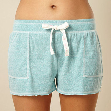 Designer light green lightweight jersey pyjama shorts at debenhams.com