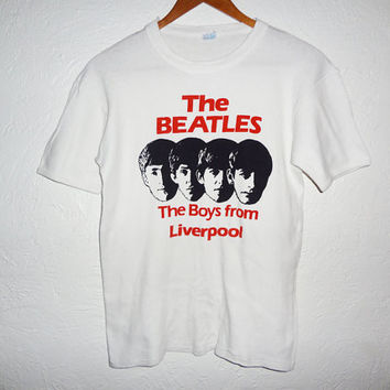 Vintage Beatles shirt -The Boys from Liverpool - deadstock 70s -