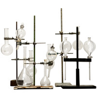 Collection (or Singles) of Glass Beakers on Stands ca. 1890