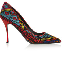 Nicholas Kirkwood - Mexican embroidered patent-leather pumps
