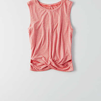 AEO Soft & Sexy Twist Muscle Tank , Red