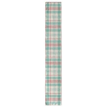 BLUE AND PINK SQUARES PLAID Table Runner By Northern Whimsy