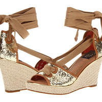 Sperry Top-Sider Palm Beach Gold Glitter/Cognac - 6pm.com