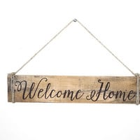 Welcome Sign - Welcome Home Sign - Home Sweet Home - Wooden Sign - Pallet Wood Sign - Hand Painted Wood Sign - Hanging Sign - Rustic Decor