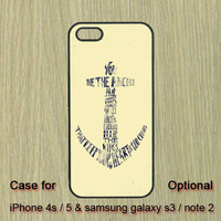 Anchor -- iphone 5 case , iphone 4S case , Samsung Galaxy S3 case , Galaxy note 2  case