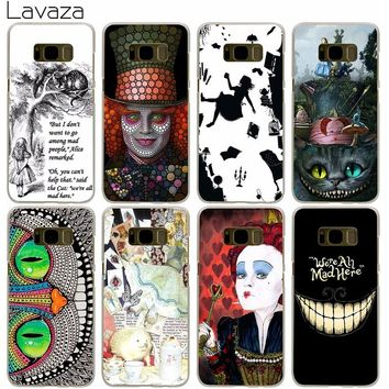 Lavaza Alice in Wonderland Case for Samsung Galaxy S9 S8 S7 S6 S5 Edge Plus