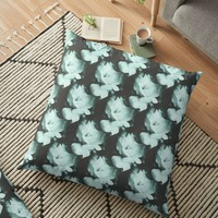 'Roses Vintage Pattern' Floor Pillow by by-jwp