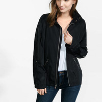 Oversized Convertible Sleeve Raincoat from EXPRESS