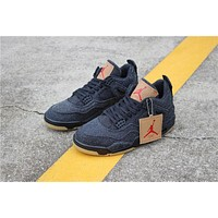 Levi¡¯s x Air Jordan 4 Retro ¡°Black Denim¡±