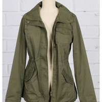 Military Jacket in Olive Green