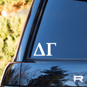 Delta Gamma Decal | Delta Gamma Car Decal | Delta Gamma Car Sticker | Delta Gamma Sorority Decal | Greek Decals | Greek Stickers | Car | 155