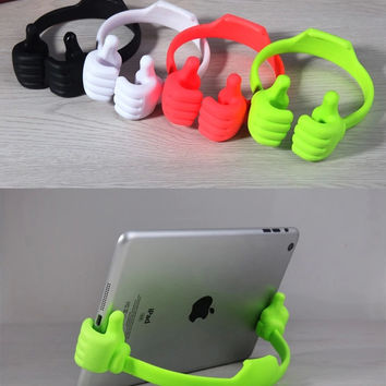 Universal OK Thumb Mount Flexible Stand Holder For Mobile Phone iPhone4/5/6 iPad Samsung