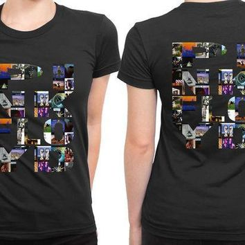 ESBH9S Pink Floyd All Albums Collection 2 Sided Womens T Shirt
