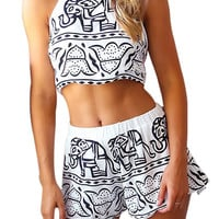 Elephant Print Co-ord