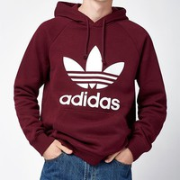 adidas Trefoil Burgundy Pullover Hoodie at PacSun.com