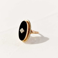 Diament Jewelry Vintage 10K Gold Onyx + Diamond Ring - Urban Outfitters